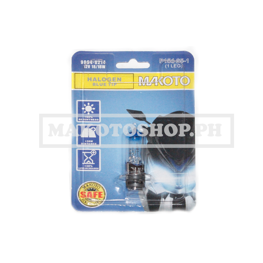 BULB, H/LIGHT 12V 18/18w (BLUE TIP) (1LEG)
