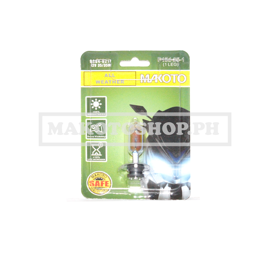 BULB, H/LIGHT 12V 35/35w (ALL WEATHER) (1LEG)