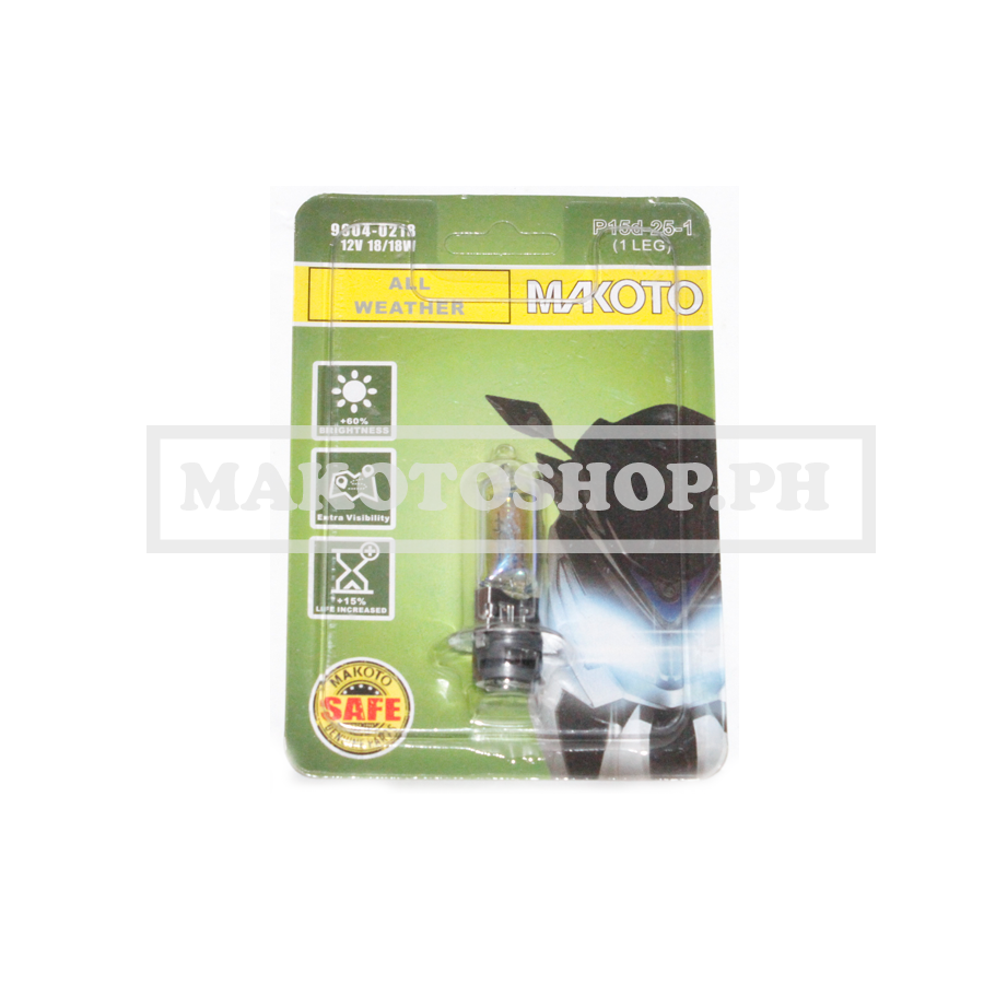 BULB, H/LIGHT 12V 18/18w (ALL WEATHER) (1LEG)