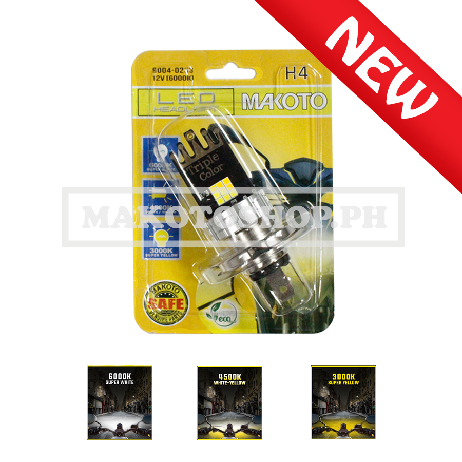 BULB, LED HEADLIGHT (H4) 3-COLORS